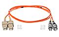 Patchcord optyczny wielomodowy SC-FC 50/125 1m duplex - 2