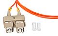 Patchcord optyczny wielomodowy SC-FC 50/125 1m duplex - 3