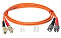 Patchcord optyczny wielomodowy FC-LC 50/125 1m duplex - 2