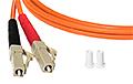 Patchcord optyczny wielomodowy FC-LC 50/125 1m duplex - 3
