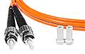 Patchcord optyczny wielomodowy ST-ST 50/125 1m duplex - 3