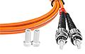 Patchcord optyczny wielomodowy ST-ST 50/125 1m duplex - 4
