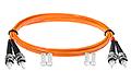 Patchcord optyczny wielomodowy ST-ST 50/125 1m duplex - 2