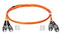 Patchcord optyczny wielomodowy FC-ST 50/125 2m duplex - 2