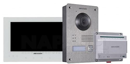 Zestaw wideodomofonowy IP DS-KIS701 biały