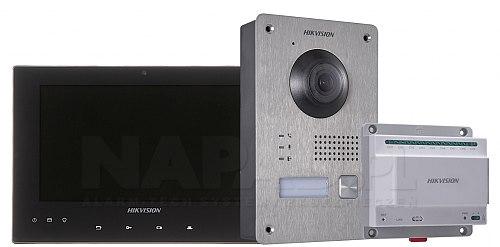 Zestaw wideodomofonowy IP DS-KIS701 czarny