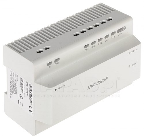 Dystrybutor interkomowy audio/wideo Hikvision DS-KAD706