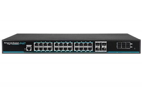 Switch Giga PoE 2L IPOX SW24G-SPL2-U4G-FR