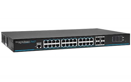 Gigabitowy switch 24-portowy IPOX PX-SW24G-SPL2-U4G-FR