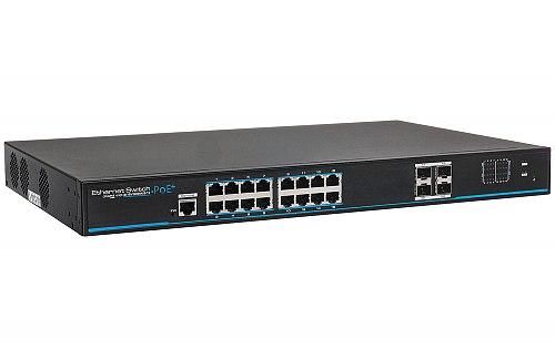 Gigabitowy switch 16-portowy IPOX PX-SW16G-SPL2-U4G-FR