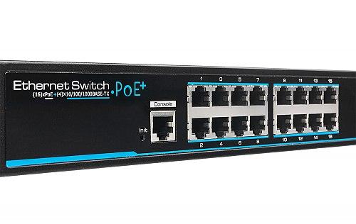 Switch Giga PoE 2L IPOX SW16G-SPL2-U4G-FR