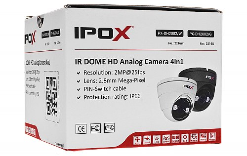 4in1 camera IPOX PX DH2002 W