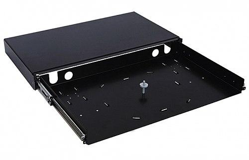 Przełącznica światłowodowa 1U (bez panelu) z prowadnicą czarna