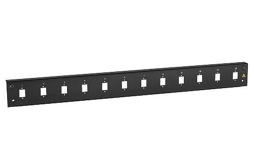 Panel czołowy 1U 12xSC simplex  czarny