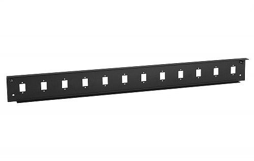 Front panel do przełącznicy 12x SC simplex czarny