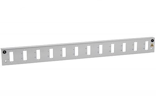 Panel czołowy 1U 12xSC duplex szary