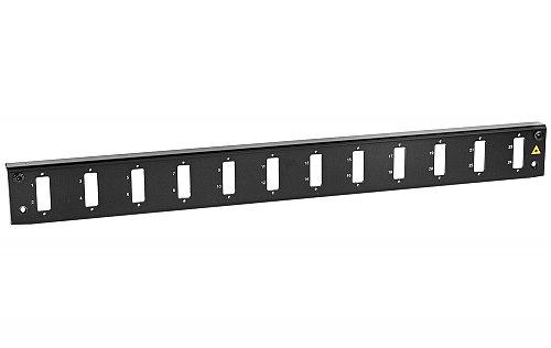 Panel czołowy 1U 12xSC duplex czarny
