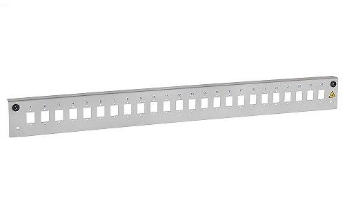 Panel czołowy 1U 24xSC simplex szary
