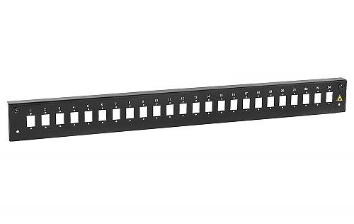 Panel czołowy 1U 24xSC simplex czarny