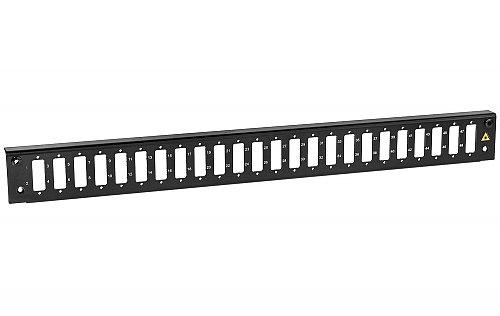 Panel czołowy 1U 24xSC duplex czarny
