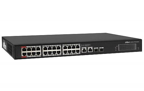 Gigabitowy switch PoE, niezarządzalny, 24 porty PoE Dahua PFS3228-24GT-360