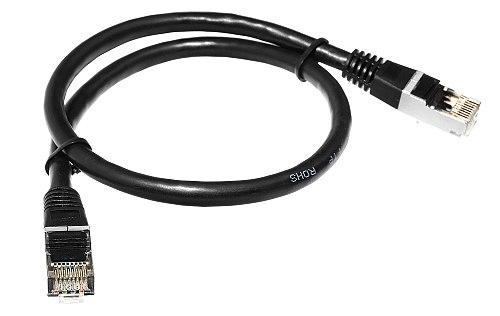 Patchcord FTP kat.6 1m czarny