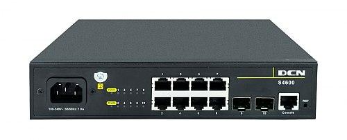 Switch gigabitowy 8-portowy + 2 SFP S4600-10P-SI