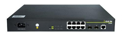 Switch gigabitowy PoE 8-portowy + 2 SFP S4600-10P-P-SI