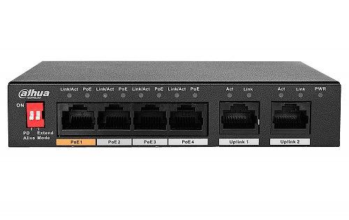 Przełącznik sieciowy Dahua DH-PFS3006-4ET-60