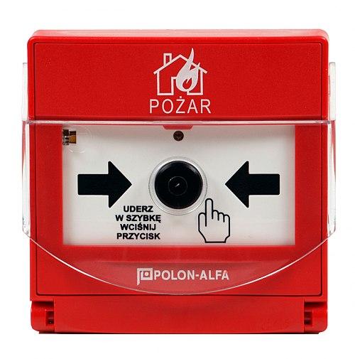 Radiowy ręczny ostrzegacz pożarowy ROP-4007