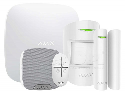 Alarmowy zestaw promocyjny AJAX Hub Biały