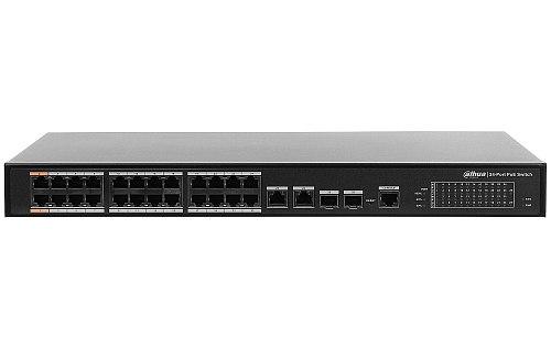 Switch PoE, zarządzalny L2, 24 porty PoE Dahua PFS4226-24ET-360