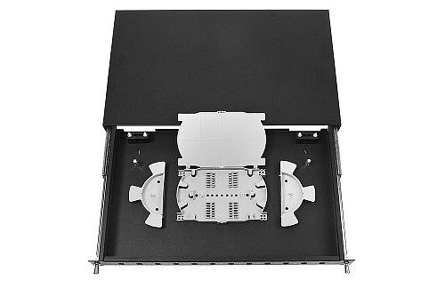 Przełącznica FO 12 porty SC simplex czarna