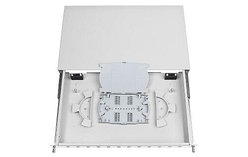 Przełącznica FO 12 porty SC simplex jasnoszara