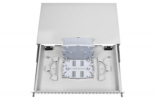 Przełącznica FO 24 porty SC simplex jasnoszara
