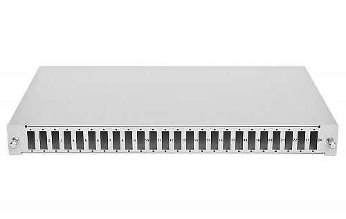 Przełącznica optyczna z kasetą, 24 porty SC duplex jasnoszara