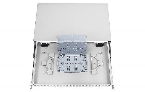 Przełącznica FO 24 porty SC duplex jasnoszara