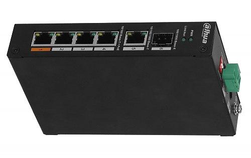 Switch PoE, niezarządzalny, 4 porty PoE Dahua PFS3106-4ET-60