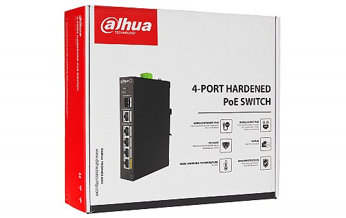 Opakowanie switcha PoE DH PFS3106 4ET 60