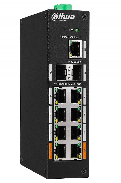 Switch PoE, Gigabit, niezarządzalny, 8 porty PoE Dahua PFS3211-8GT-120
