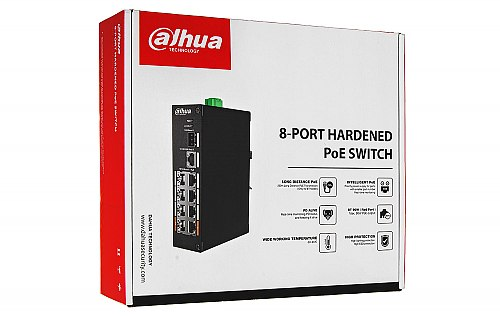 Opakowanie switcha PoE Dahua PFS3110 8ET 96