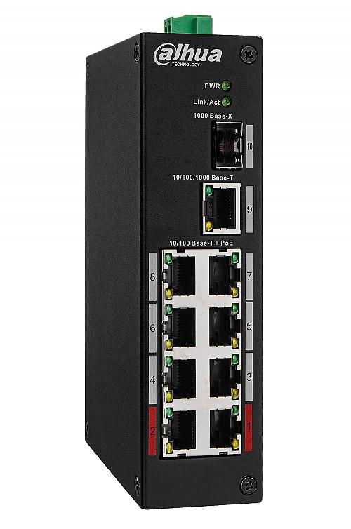 Switch PoE, niezarządzalny, 8 portów PoE Dahua PFS3110-8ET-96