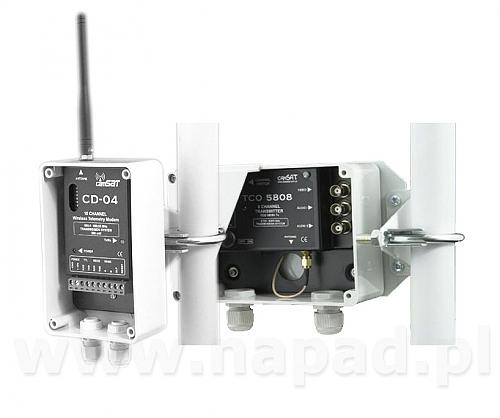 Zestaw nadawczo odbiorczy audio/video/telemetria 5,8 Ghz CD5804 M/S