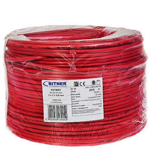 Kabel przeciwpożarowy Bitner 2x 2x 0,8mm yn tksy