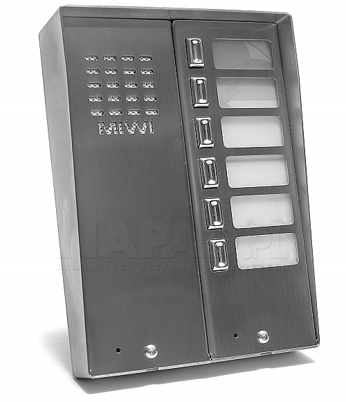 Panel domofonowy z 6 przyciskami MIWUS 5025/6D