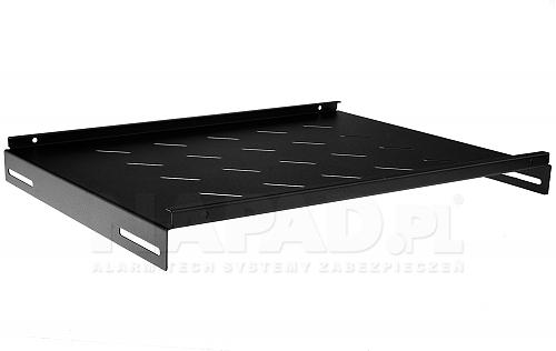 Półka do szafy Rack 19'' 600mm PZ600 czarna