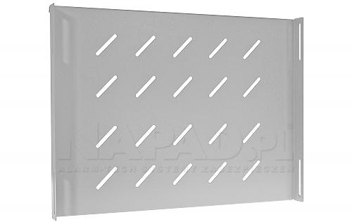 Półka PZ 600W biała do szaf RACK stojących 19