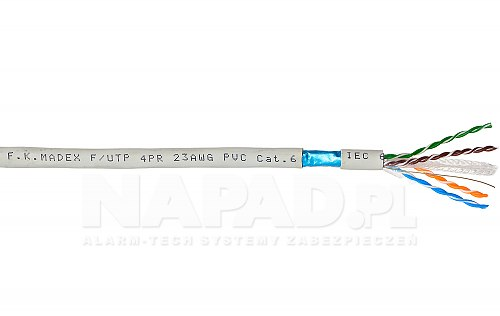 Przewód sieciowy F UTP cat 6 Madex