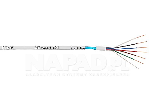 Przewód alarmowy bit-protect bitner 6x 0.5 mm