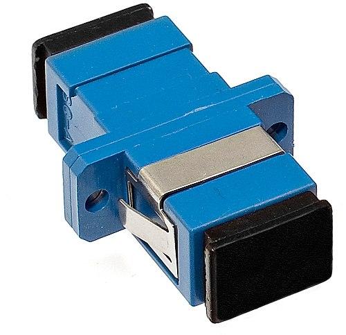 Adapter jednomodowy SC/UPC simplex zaślepka czarna